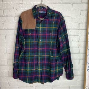 80s Polo Ralph Lauren Plaid Hunting Shirt XL
